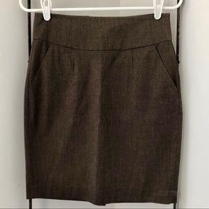 Brown Banana Republic Pencil Skirt